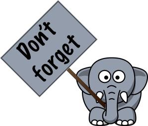 elephant never forget