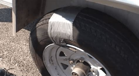 duct taped tire